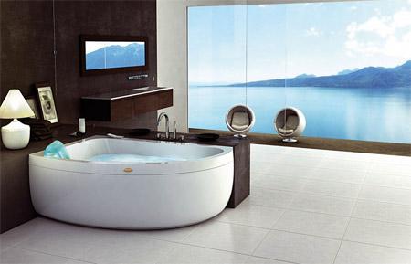Дизайнерская ванна Jacuzzi AquaSoul Double, с четырмя программами гидромассажа