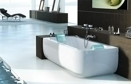 Дизайнерская ванна Jacuzzi Aquasoul Double, с гидромассажем